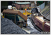 First Showel Load Being Tipped Into The HTA at Cwmgwrach Drift Mine