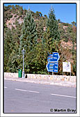 Troodos Road Sign
