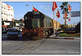 Freight train passing through Sousse